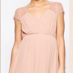 ASOS Maternity Tea length Dress -Blush